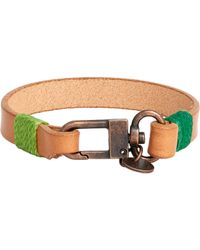 Caputo & Co. Natural Cord-Wrapped Leather Bracelet for men