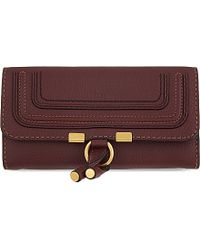 Chloé | Red Marcie Leather Continental Wallet - For Women | Lyst
