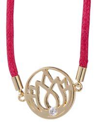 Melissa Odabash   Dark Pink Lotus Friendship Bracelet   Lyst