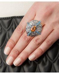 Stephen Dweck - Metallic Silver Topaz Shield Ring - Lyst