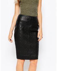Muubaa Black Masella Bonded Skirt