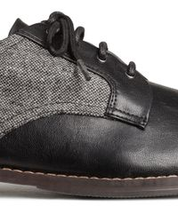 H&M Black Derby Shoes for men