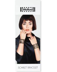 Wolford | Brown Scarlet Beaded Cuff Bracelet | Lyst