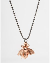 ASOS - Pink Necklace And Bracelet Pack With Bee for Men - Lyst