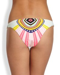Mara Hoffman - Orange Lowrise Printed Bikini Bottom - Lyst