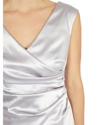 Coast Metallic Della Duchess Satin Dress