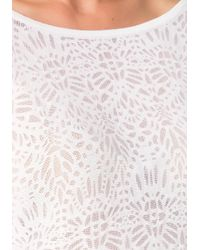 Bebe | White Laser Cut Sweater | Lyst