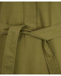 M.i.h Jeans - Green Khaki Military Style Button Down Iola Shirt Dress - Lyst