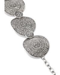Forever 21   Metallic Etched Medallion Bracelet   Lyst