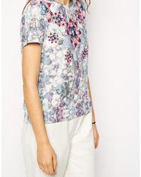 ASOS - Multicolor T-shirt In Digital Jewel Necklace Print - Lyst