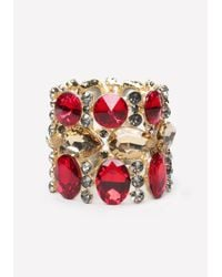 Bebe - Metallic Crystal Stretch Bracelet - Lyst