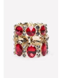Bebe | Metallic Crystal Stretch Bracelet | Lyst