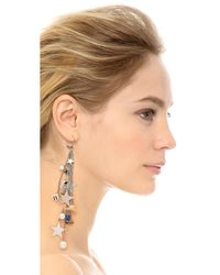 Venessa Arizaga - Metallic Cowboys & Aliens Earring - Silver Multi - Lyst