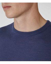 Reiss - Blue Hart Merino Wool Jumper for Men - Lyst