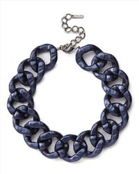 Jaeger | Blue Metallic Resin Chain Necklace | Lyst