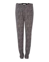 Marella Gray Lettre Straight Leg Printed Trouser