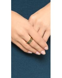 Marc By Marc Jacobs Metallic Dreamy Logo Band Ring
