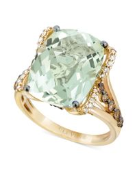 Le Vian - Metallic White Diamond 18 Ct Tw and Chocolate Diamond 38 Ct Tw Ring in 14k Gold - Lyst