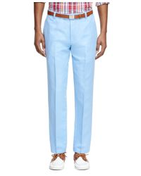Brooks Brothers - Blue Milano Fit Linen And Cotton Pants for Men - Lyst