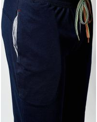 Paul Smith | Blue Jersey Skinny Fit Cuffed Joggers for Men | Lyst