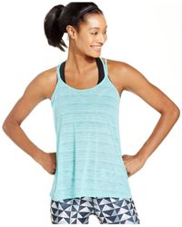 Nike Blue Dri-fit Cool Breeze Strappy Tank