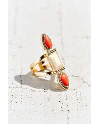 Urban Outfitters - Red Triple Stone Ring - Lyst