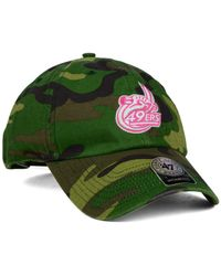 47 Brand - Green Charlotte 49ers Fashion Clean Up Cap for Men - Lyst