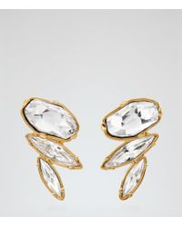 Reiss | White Lissandra Earrings With Crystals From Swarovski | Lyst