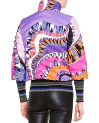 Emilio Pucci - Multicolor Printed Quilted Jacket - Lyst