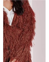 Missguided - Brown Plus Size Fine Hair Cardigan Rust - Lyst