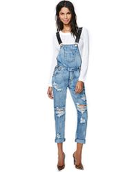Nasty Gal - Blue One Teaspoon Awesome Overalls Cobain - Lyst