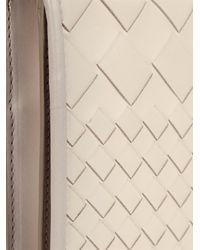 Bottega Veneta Natural Montebello Intrecciato Leather Clutch