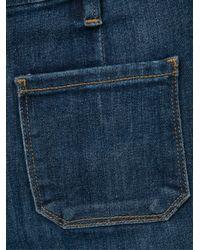 FRAME Blue Patch Pocket Jeans