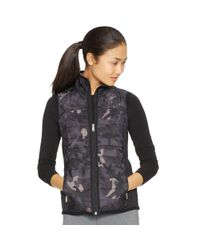 Ralph Lauren | Black Quilted-front Full-zip Vest | Lyst
