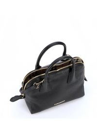 Burberry | Black Leather Small Bowling Bag | Lyst