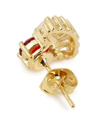 Iosselliani | Metallic 18Kt Gold-Plated Ring And Fan Earrings | Lyst