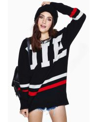 Nasty Gal - Black Unif Die Poser Sweater - Lyst