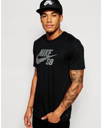 Nike | Black T-shirt With Reflective Logo 749630-010 for Men | Lyst