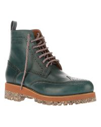 DSquared² Green Laceup Boot for men