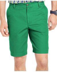 Izod - Green Saltwater Flat-front Shorts for Men - Lyst