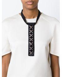 Marni - Black Embellished Velvet Necklace - Lyst