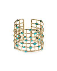 Melinda Maria Metallic Cage Cuff