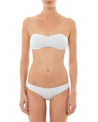 Lisa Marie Fernandez - White Natalie Bandeau Bikini - Lyst