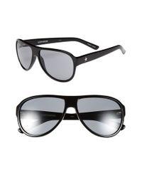 Converse Black 'tall Tale Teller' 60mm Aviator Sunglasses