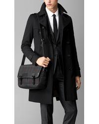 Burberry Gray Horseferry Check Messenger Bag for men