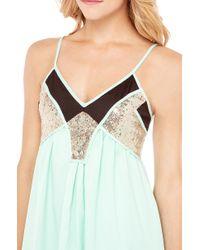 AKIRA - Green Sequin Insert Summer Dress - Lyst