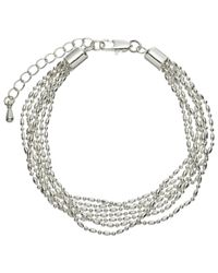 John Lewis - Metallic Layered Fine Chain Bracelet - Lyst