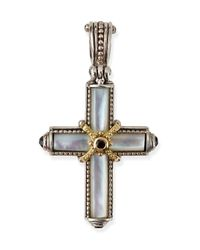 Konstantino | Metallic Small Mother-of-pearl & Spinel Cross Pendant | Lyst