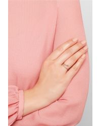 Ileana Makri - Pink Snake 18-karat Rose Gold Diamond Ring - Lyst