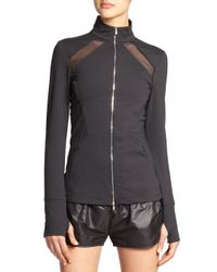 Heroine Sport - Black Brushed Tech Jersey Studio Jacket - Lyst